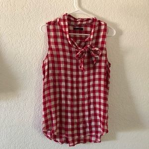 Tops - Max Jeans Red and White Gingham
